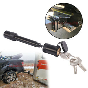 5 8 Black Trailer Hitch Locking Barbell Style Lock Pin Anti Rattle 2 Receiver