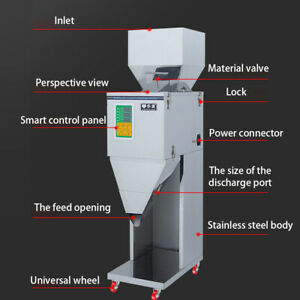 10 999g Automatic Powder Filler Machine Racking Filling Weigh For Tea seed grain