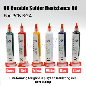 10cc Uv Curable Solder Mask Resistance Oil Repairing Paint For Pcb Circuit Board