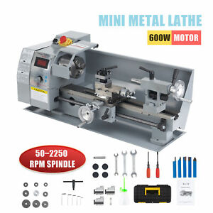 8 x14 2500rpm Mini Lathe Benchtop Cutter W 600w Motor For Metal Woodworking