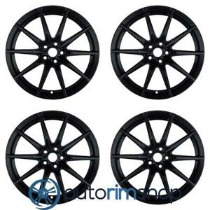 Ford Mustang 2015 2016 2017 2018 2019 19 Oem Staggered Wheels Rims Set Black