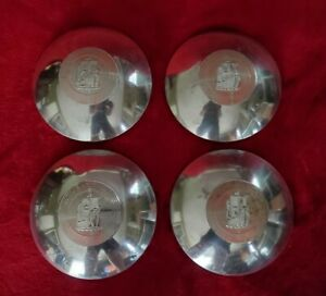 1949 Plymouth Ship Hubcaps 1950 Dog Dish Poverty Center Caps 1951 1952 1953 1954