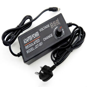Ac Dc Electrical Power Supply Adapter Charger Voltage 3v 12v Adjustable 5a Usa