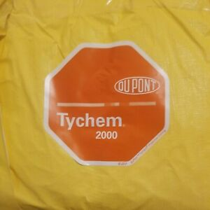 Lot Of 3 Dupont Tychem 2000 Coverall With Hood Qc127s L Yellow