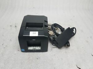 Star Tsp650ii Thermal Receipt Printer W Power Supply Serial Cable Tested