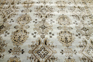 10x14 Breathtaking New Hand Knotted Vegetable Dye Wool Herizz Oushak Turkish Rug
