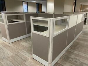 Trendway 7 x6 Office Cubicles Workstations Glass