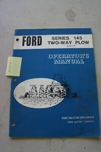 Ford 145 Series Two Way Plow Operator s Manual