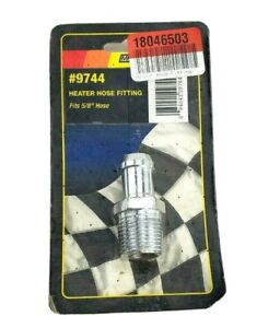 Mr Gasket 9744 Chrome Plated Heater Hose Fitting 58 Hose X 12 Pipe Thread