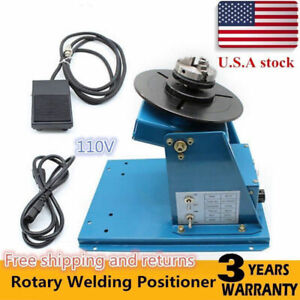 3 Jaw Rotary Weld Positioner Turntable Machine 2 10 R min Table Mini 2 5 Lathe