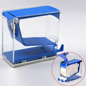 Dental Cotton Rolls Dispenser Press Type Take Out Easily And Sanitary Blue