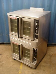 Blodgett Dfg 200 Commercial Gas Convection Oven Double Stack Bakery Depth