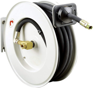 Reelworks Oil Hose Reel Retractable 1 2 Inch X 50 Foot Long Premium Commercial