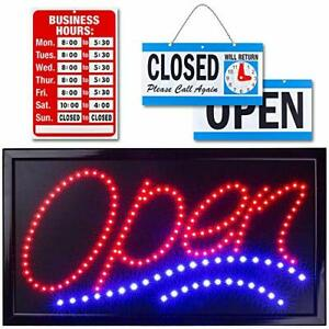 Neon Open Sign For Business Jumbo Lighted Sign Open With 24 X 13 Model 1