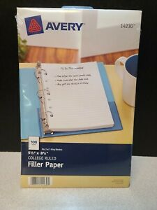 Avery Mini Binder Filler Paper 5 1 2 X 8 1 2 7 hole Punch Col 077711142305