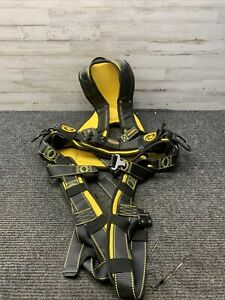 Used Guardian Fall Protection Cyclone Construction Harness Xxl Black yellow