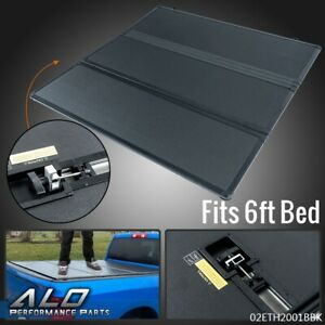6ft Fit For 05 15 Toyota Tacoma Extra Short Bed Lock Tri Fold Hard Tonneau Cover