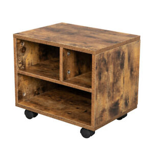 3 Grids With Four Wheels Mdf With Pvc Wooden Filing Cabinet Antique Wood Color