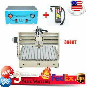 3 Axis Cnc 3040t Router Engraver Wood Milling Cutting Machine 400w controller