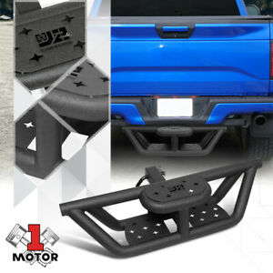 J2 Truck Rear Bumper Tow Hitch Step Two Tiered Tubular For Vehicles 2 Receiver