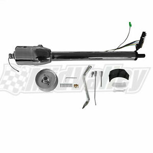 28 Tilt Steering Column Shift Chrome W Wheel Adapter No Switch Automatic
