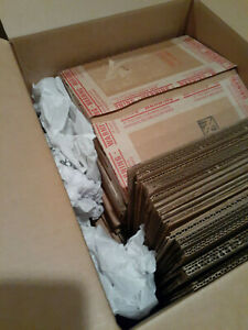 10 Used Brown Vinyl Record Mailer Boxes With Filler Pads And Gift Wrap Paper
