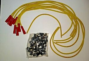 Mallory 8mm Universal Spark Plug Wire Set 765 Zero Degree Boots Chevy Ford Hei