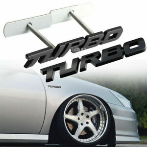 Metal Turbo T Car Front Grille Emblem Rear Tailgate Trunk Sport Badge Stickers Fits Ford Lightning