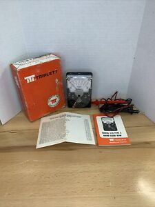Triplett Model 310 Volt ohm Milliammeter In Box W Leads Untested As Is parts