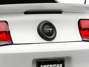 Mmd Trunk Emblem Surround In Matte Black Styling Fits All Ford Mustang 2010 2012