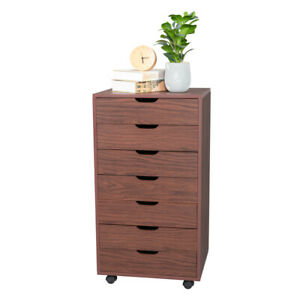 7 Drawers Mdf With Pvc Wooden Filing Cabinet Home Office Storage Dresser Cabinet
