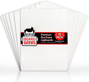 Dry Erase Lapboards 9 X 12 Inch Large Whiteboard Pack Of 12 White Board Set