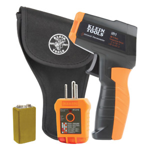Klein Tools Ir1kit Infrared Thermometer With Gfci Receptacle Tester