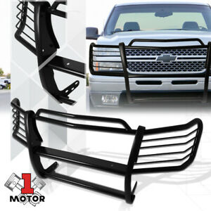 Black 1 5 Mild Steel Grille Brush Headlight Guard For 02 06 Chevy Avalanche 1500