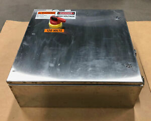 Wiegmann Stainless Steel Ss Electrical Control Panel Enclosure 24 x 24 x 8