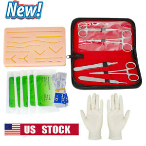 Surgical Surgical Suture Kit Suture Set Medical Teaching 18 Piece Kit Model New
