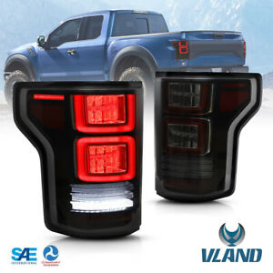 Vland Led Smoked Tail Lights For Ford F150 F 150 2015 2020 Assembly Oe Replace