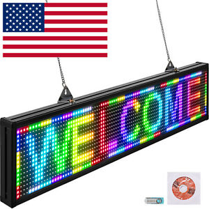 Usb Wifi Hd Full Color P10 Led Scrolling Sign Programmable Display Advertising