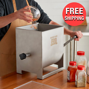 Commercial 44 Lb Countertop Manual Butcher Meat 7 Gal Mixer W Removable Paddle