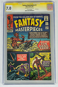 FANTASY MASTERPIECES #2 CGC 7.0 SIGNED STAN LEE SINGLE HIGHEST GRADED JACK KIRBY $799.99