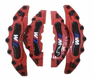 Bmw Universal M Brake Caliper Cover Front Rear Red