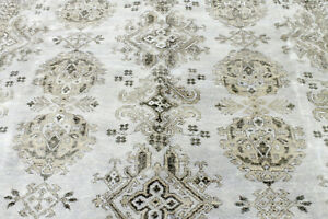 8x10 Breathtaking New Hand Knotted Vegetable Dye Wool Herizz Oushak Turkish Rug