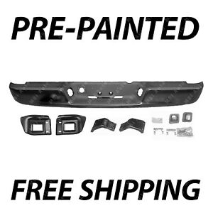 New Painted To Match Rear Bumper Assembly For 2004 2008 Dodge Ram 1500 2500 3500