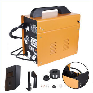 Mig 130 Electric Welder Flux Core Wire Automatic Feed Welding Machine W mask