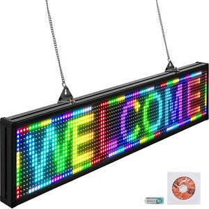 P10 38 X 6 5 Inch Led Scrolling Sign Full Colored High Resolution Programmable