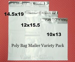 28 Poly Bag Mailer Variety Pack 3 Med To Large Size Shipping Envelope Bags