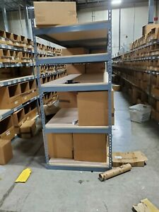Wide Span Rack With 4 Shelves Wood Deck 1100 Lb Capacity Per Level 96 w X 36 d