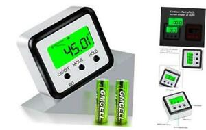 Digital Level Protractor Inclinometer Magnetic Level Angle Meter Silver Green