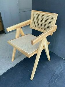 Edith Design Modern Cane Chair Pierre Jeanneret Style Set Of 2