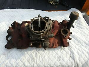 Chevy 348 3732757 Iron Intake Manifold J1860 Date And Wcfb 3061s 3779179 Carb